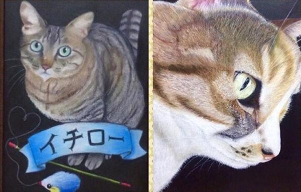 チョークアート アトリエフレア ペット似顔絵