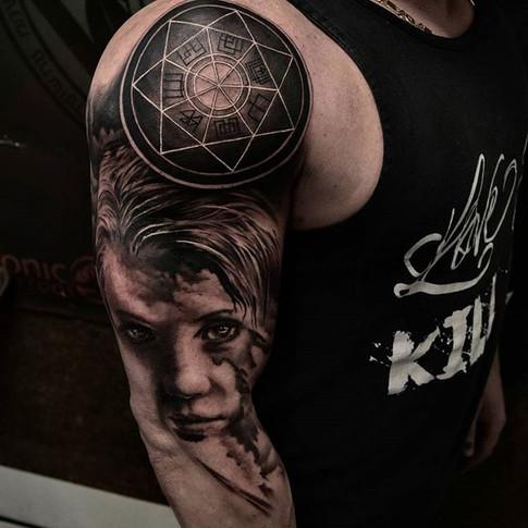 Men's arm tattoo sleeve