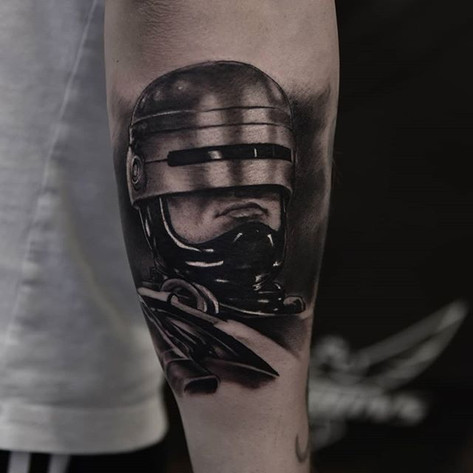 Tattoo of superhero