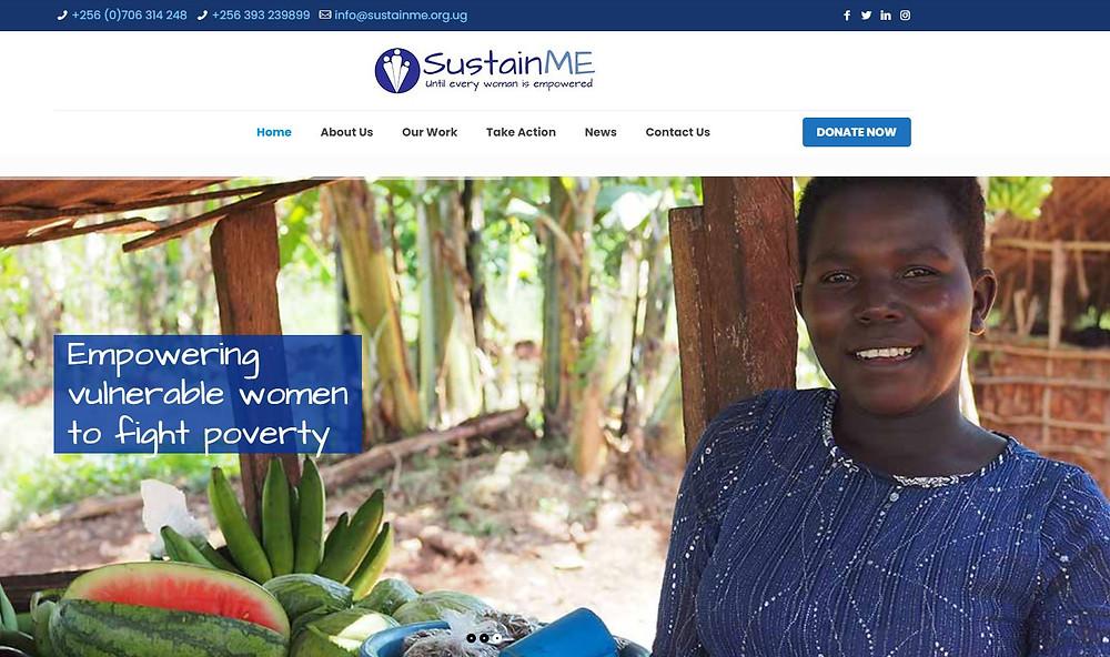 example of SustainME's website