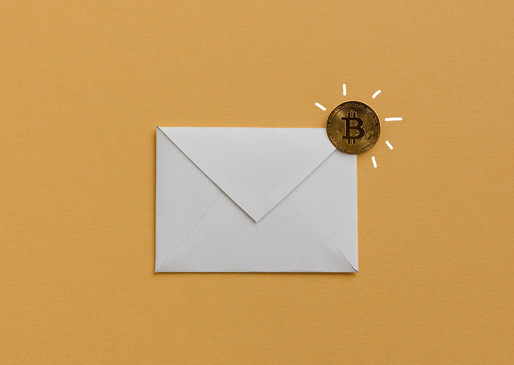 email communication - we accept cryptocurrencies