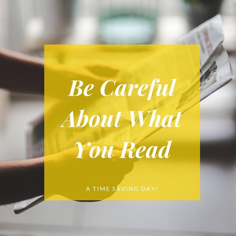 Be Careul About What You Choose To Read During Cancer