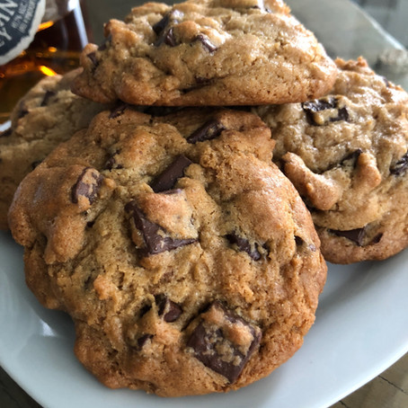 CHOCOLATE CHIP COOKIES WITH A LIL' DAB OF BOURBON