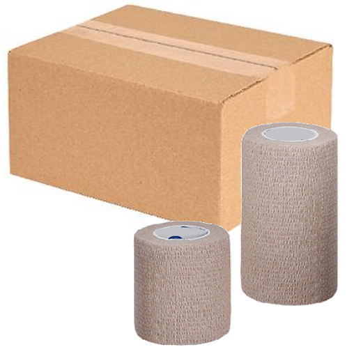 "Co-Lastic® Latex Free Tan Elastic Bandage - 3"" X 5yd - Case 24/cs (45300000C)"