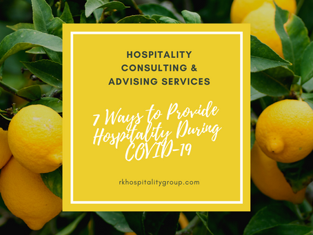 7 Ways To Provide Hospitality To Your Guests During COVID-19