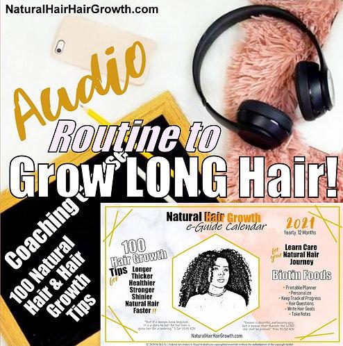 'Natural Hair Hair Growth eGuide Calendar 2021' Audio Book 100 Tips