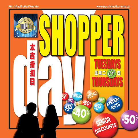 (FINAL) SHOPPER DAYS 12x12 Sticker (V2r2