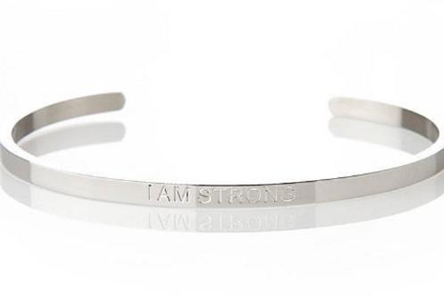 I AM STRONG - Affirmation Bracelet