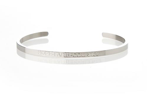 HOPE FAITH COURAGE - Affirmation Bracelet