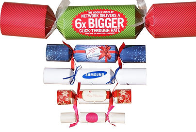 Different sizes of Christmas crackers