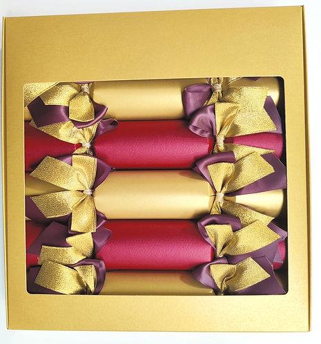 Aurum Gold & Burgundy Luxury Christmas Crackers