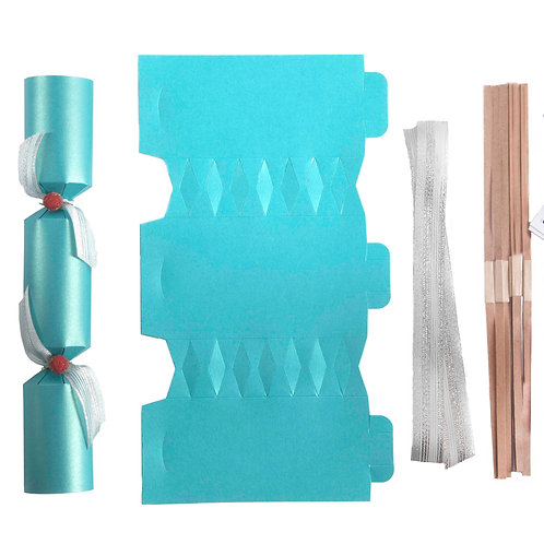 Turquoise Wedding crackers - Pack of 12