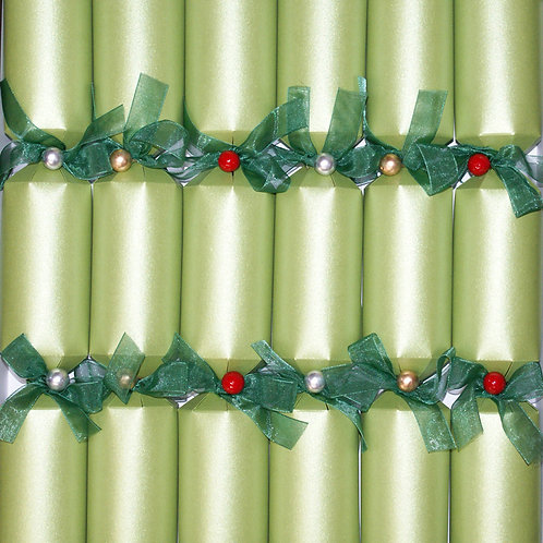 Avocado Green Christmas Crackers