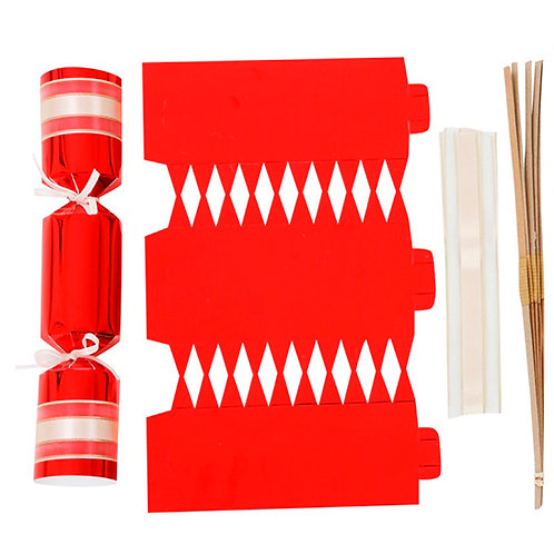 Red Foil Wedding crackers - Pack of 12