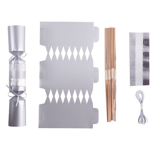 Lux Silver Wedding crackers - Pack of 12
