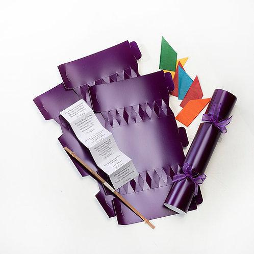 Purple pearl Wedding crackers - Pack of 12