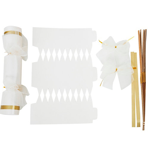 Pearl Ice White Wedding crackers - Pack of 12