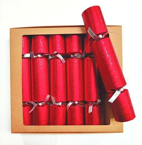 Red Swirls Christmas Crackers