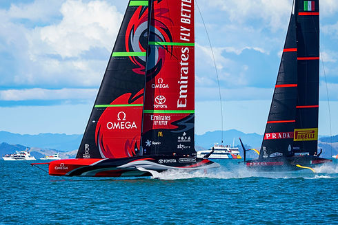 Emirates Team New Zealand during the American Cup