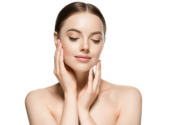 Skin care woman face with healthy beauty