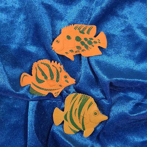 Triplet Fish fridge magnet