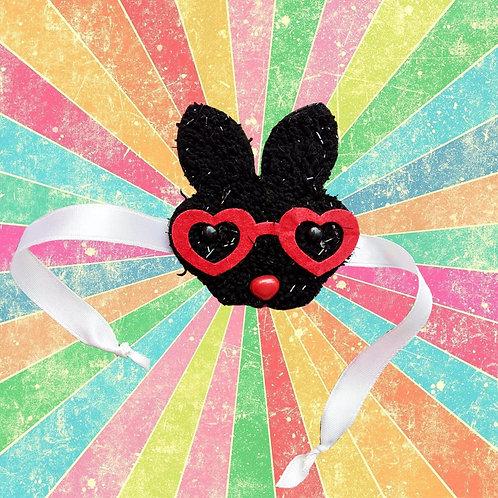 Black bunny with glasses - Kid's rakhi