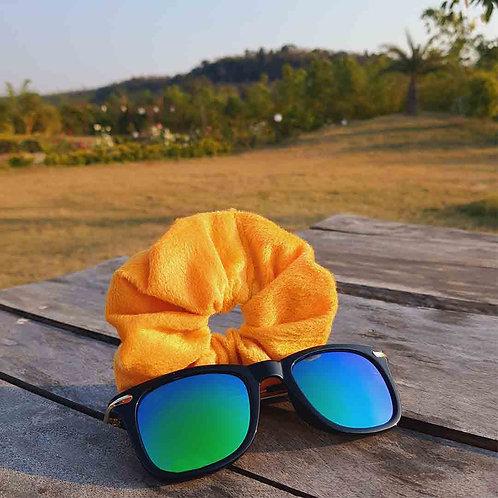 Soft yellow scrunchie