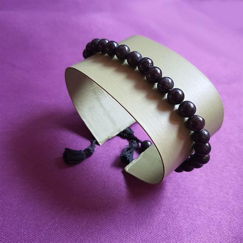 Dusky black agate stone Wristlet