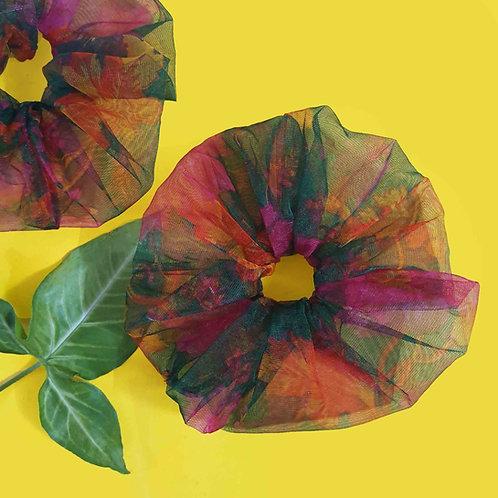 Multicolor net huge scrunchie