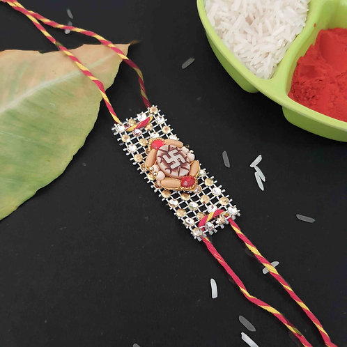 Traditional sequin rakhi