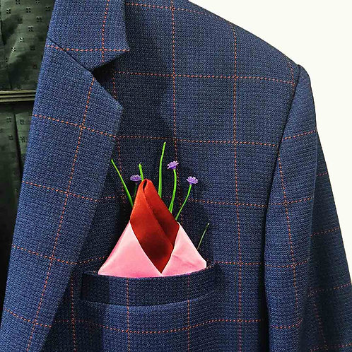 Conical wrap pocket square