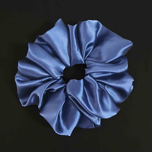 Royal blue XXL satin scrunchie