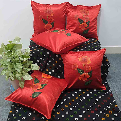 Red Monochrome cushion cover set