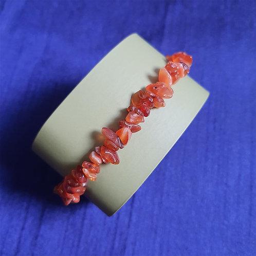 Carnelian chips wristlet