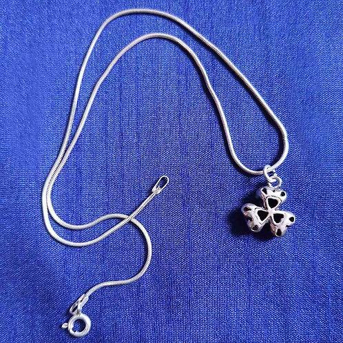 Designer clover leaf Silver pendant
