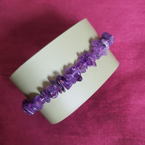 Royal Amethyst chips bracelet