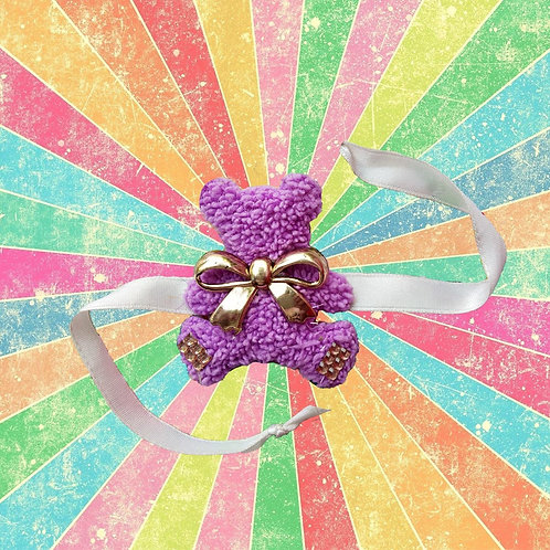 Purple bear cute Rakhi for kids
