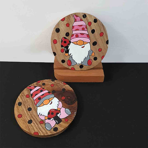 Cuddly Gnome coaster set