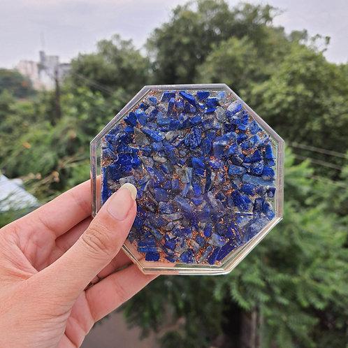 Blue sparkle resin Coaster