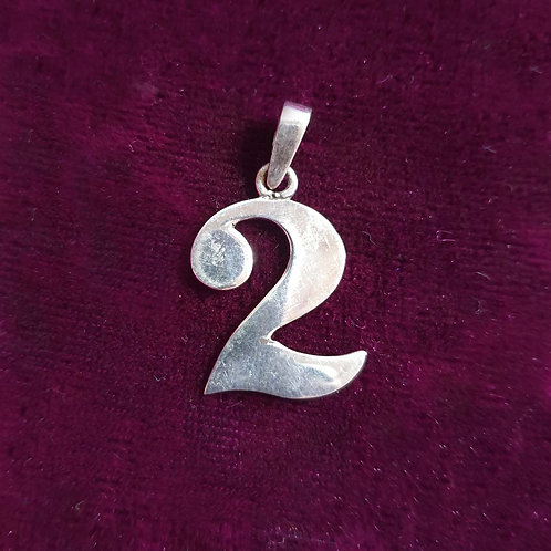 Peace with 2 Silver pendant