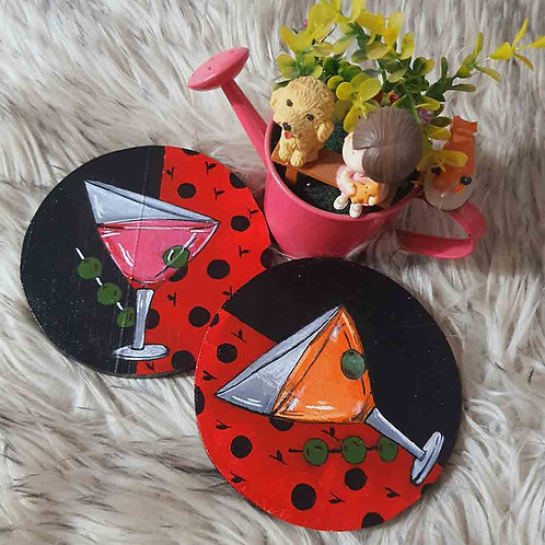 LadyBug Drink coaster set