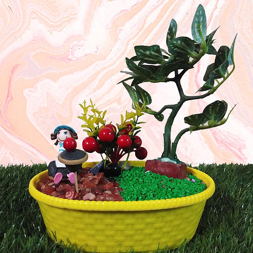 Cherry girl Miniature garden