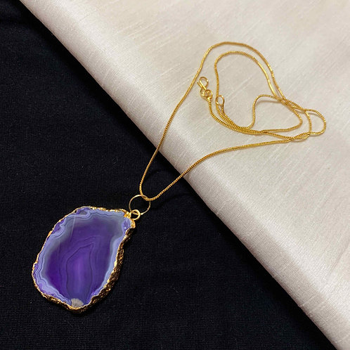 Sweet scent Agate stone pendant chain