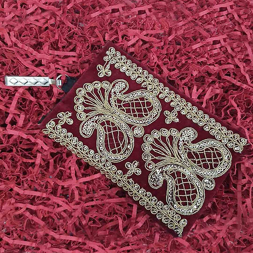 Royal Maroon mobile pouch