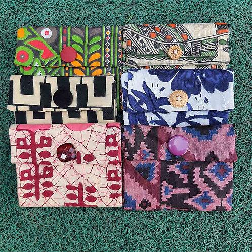 Designer printed fabric wallet set of 2
