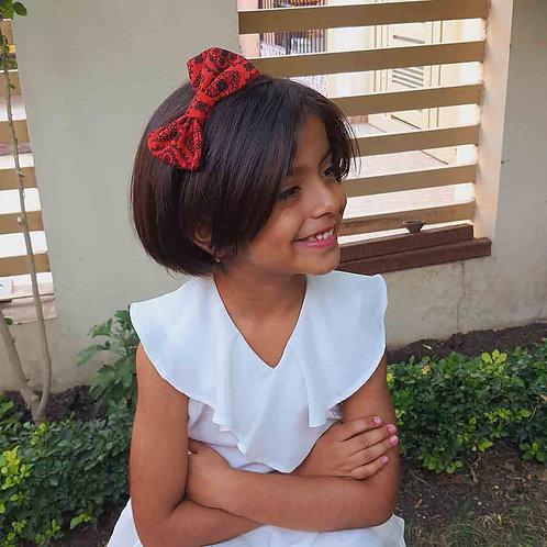Designer red hairband