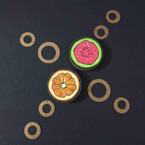 Handpainted fruits magnet set
