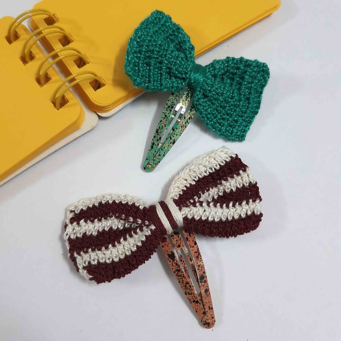 Earthy colors Crochet hairpins