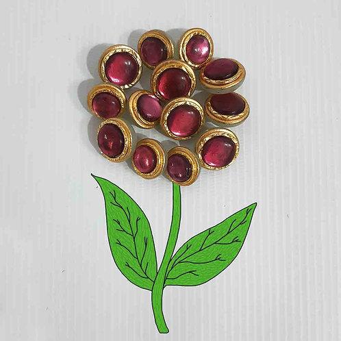 Daliha pink sherwani buttons