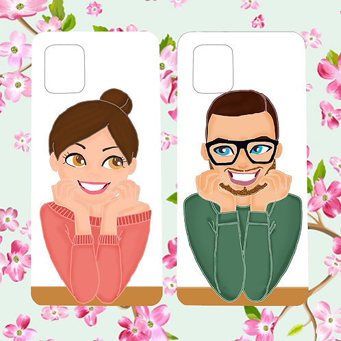 Couple mobile cover set